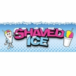 2' × 5' Shaved Ice Banner, Ice Man Design