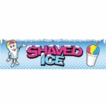 2-Foot by 7-Foot Shaved Ice Man Banner