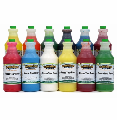 12 Quarts of Shaved Ice and Snow Cone Concentrate