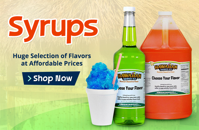 Shaved Ice and Snow Cone Syrup on Sale