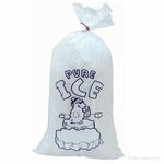Plastic Ice Bags for Rectangle Blocks - 10-Pound Capacity