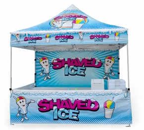 10-Foot By 10-Foot Shaved Ice Vending Tent