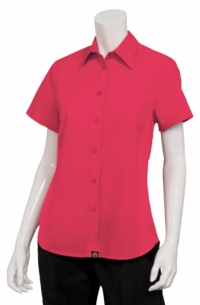 Berry PINK Cool Vent<br> Women's Cook Shirt