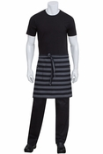 Black Striped Denim Chesapeake Half Bistro Apron