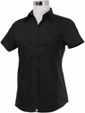 Jet BLACK Cool Vent<br> Women's Server Shirt