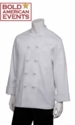 Bold American Chef Coat With Logo and Personalization