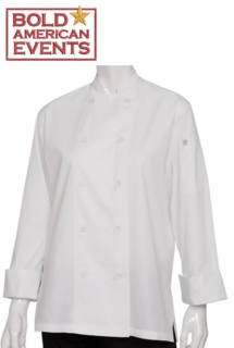 Bold American Ladies Light Weight Chef Coat With Logo and Personalization