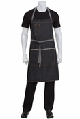 Bronx Black Denim Bib Apron