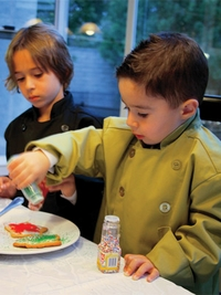 Children's Lime Green Chef Jacket