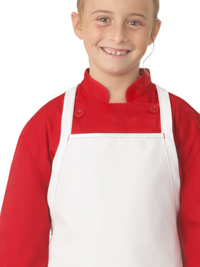 Kid's Chef Coat in RED with White Apron