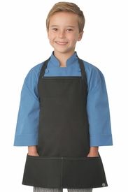 Kid's Chef Coat in BLUE with Black Apron