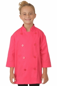 Kid's Chef Coat in Berry Pink