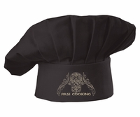 PASI Cooking Traditional Black Chef Hat