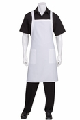 White CROSS-BACK Bib Apron