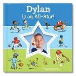NEW! I'm an All-Star Personalized Book - Blue
