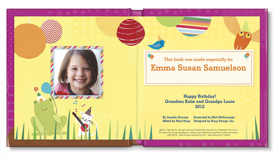 My Very Happy Birthday Book for girls