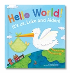 NEW! Hello World! Twins Personalized Book