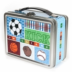 Kick, Score, Run! Personalized Lunch Box