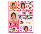 Picture Perfect Personalized Sticker - Pink