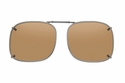 Cocoons L209 Clip-Ons Square Sunglasses