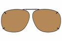 Cocoons L328 Clip-Ons Square Sunglasses