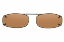 Cocoons L4118 Clip-Ons Rectangle Sunglasses