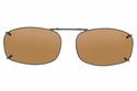 Cocoons L4128 Clip-Ons Rectangle Sunglasses