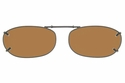 Cocoons L4149 Clip-Ons Rectangle Sunglasses