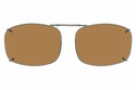 Cocoons L4158 Clip-Ons Rectangle Sunglasses