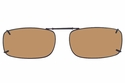 Cocoons L4189 Clip-Ons Rectangle Sunglasses