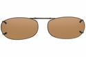 Cocoons L459 Clip-Ons Rectangle Sunglasses