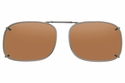 Cocoons L468 Clip-Ons Rectangle Sunglasses
