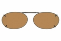 Cocoons L629 Clip-Ons Oval Sunglasses