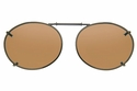 Cocoons L649 Clip-Ons Oval Sunglasses