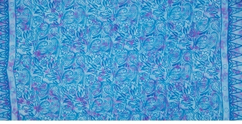 "Abstract Half Sarong ""Blue Desire"" Turquoise"