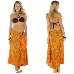 Abstract Sarong in Orange