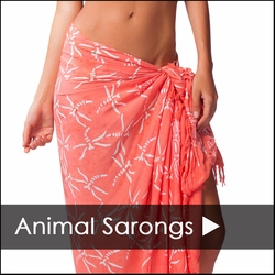 ANIMAL SARONGS - BUTTERFLY SARONGS - FISH SARONGS - GECKO SARONGS - TURTLE SARONGS - DOLPHIN SARONGS - AND MORE