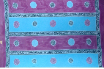 Baliku Mens Sarong in Blue And Purple