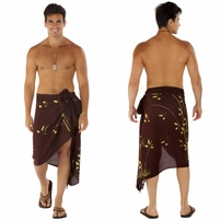 "Bamboo Mens Sarong ""Brown"""
