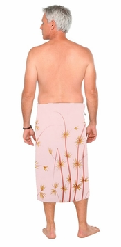Bamboo Mens Sarong in Light Pink