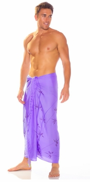 Bamboo Mens Sarong in Purple