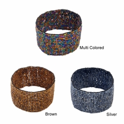 Set of 3 Beaded Stretch Bracelet - Assorted