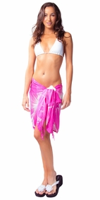 "Floral Half Sarong ""Sweet Sarah"" Pink and White"