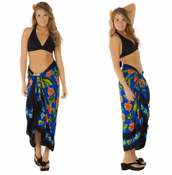Blue Multi Colored Butterfly Sarong
