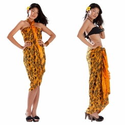 Bora Bora Floral Sarong in Orange