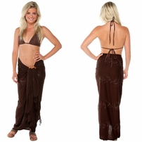 Brown Embroidered Sarong