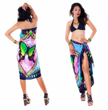 Butterfly Sarong in Light Turquoise