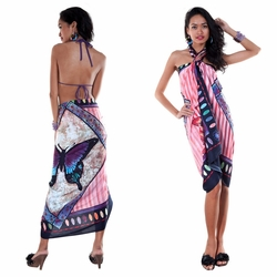 Butterfly Sarong in Pink