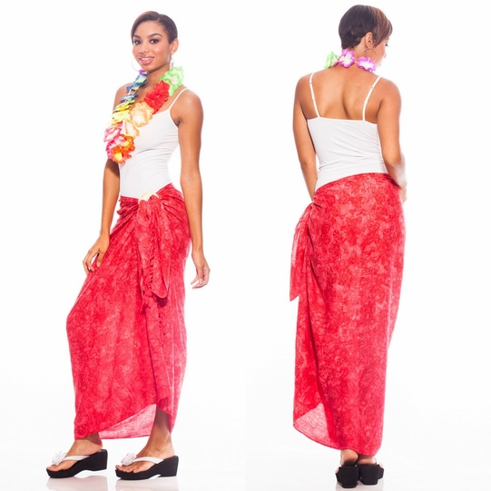 Butterfly Sarong in Red