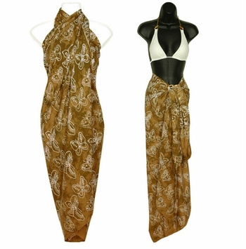 "Butterfly Sarong ""Tan / White"""